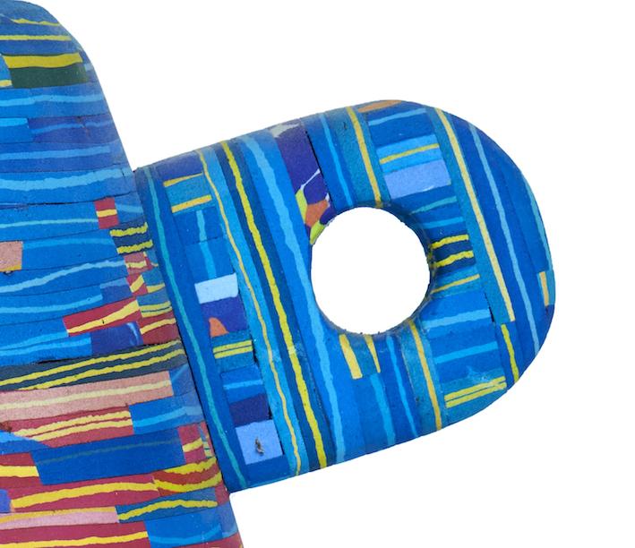 detail Flip Flop vase on wheels